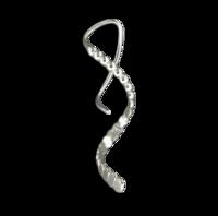 Beaded Mini Spiral Earrings