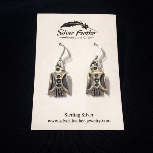 Oxidized Sterling Silver Thunderbird Earrings