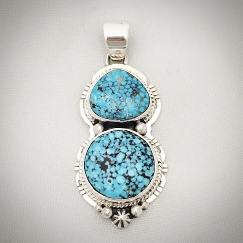 Kingman Turquoise and Sterling Silver pendant