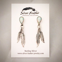 Sterling Silver and Cultured Opal post earrings