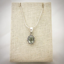 Green Amethyst Necklace ID-004