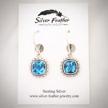 Blue Topaz Earrings ID-006