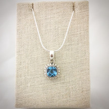 Blue Topaz Necklace ID-007