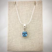 Blue Topaz Necklace ID-007