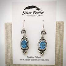 Blue Topaz Earrings ID-008