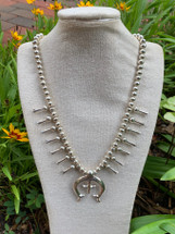 Squash Blossom necklace in silver 47-1843