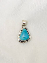 Small Kingman turquoise pendant-2001-42