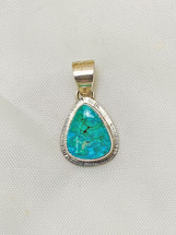 Small Emerald Valley Turquoise pendant #2006-47