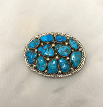 Turquoise Multi-stone Belt Buckle 2012-44