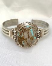 Boulder Turquoise Cuff Bracelet 2020-47