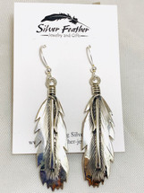 Silver Feather Earrings 2038