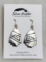 Silver Overlay Earrings 2040