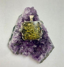 Green Amber Pendant-2078