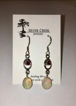 Ethiopian Opal and Garnet Earrings 3004