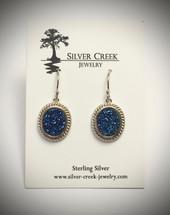 Blue Druzy Earrings 3042