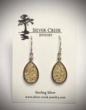 Gold Druzy Earrings 3043