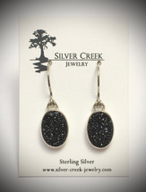 Black Druzy Earrings 3044