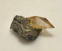 Stellar Beam Calcite on Sphalerite-3071