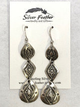 Stampwork Dangle Earrings 3119