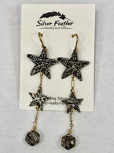 Star Earrings w/Rutilated Quartz 3147