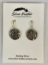 Silver Earrings w/Gold Filled Wires 3153