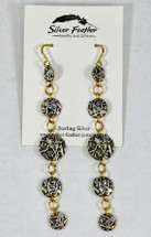 Silver Long Dangle Earrings 3156