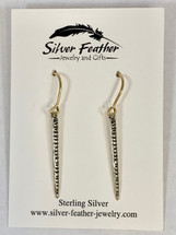 Silver Earrings w/Gold-fill Wires 3154