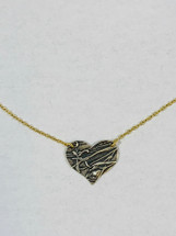 Medium Two-tone Heart Necklace 3158