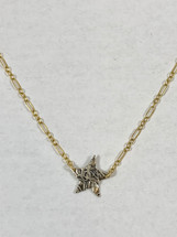 Small Silver Star Necklace 3159