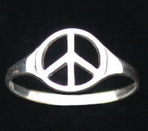 Peace Sign Ring- 3170
