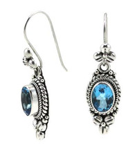 Blue Topaz Earrings - 3175