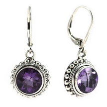Amethyst Earrings- 3178