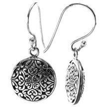 Silver Filagree Earrings- 3182