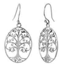 Oval Tree of Life Earrings 3215