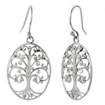 Oval Tree of Life Earrings 3215