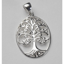 Tree of Life Oval Necklace-Medium 3215