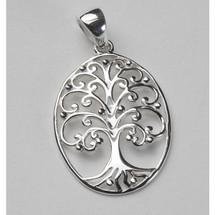 Tree of Life Oval Necklace-Medium 3215