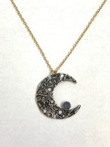 Crescent Moon with Opal