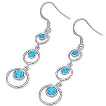 Blue Opal Earrings 3225