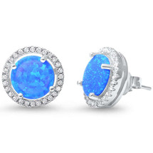 Blue Opal Earrings 3227