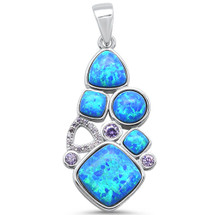 Blue Opal Necklace 3232