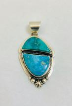 Kingman Turquoise Pendant- 3249