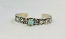 Dry Creek Turquoise Stampwork Cuff- 3251