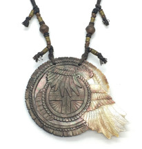 Dan Townsend Shell Gorget - Eagle Carrying Fire 3308