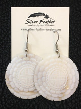 """Dan Townsend Shell Gorget Earrings """"Little Brother of the Sun"""" - 3332"""