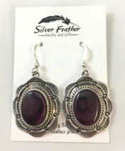 Purple Spiny Oyster Shell Earrings 3347