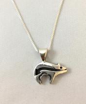 Heartline Bear Necklace 3377