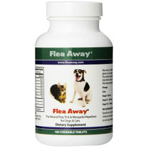 All Natural Flea Repellent for Dogs & Cats (100 ct Tablets) - Flea Away
