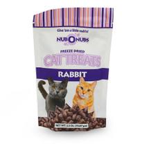 NUBONUBS Rabbit Flavor (2.5 oz) Freeze Dried Cat Treats - Dinovite