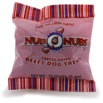 NUBONUBS Beef (0.75 oz) Freeze Dried Treats - Dinovite